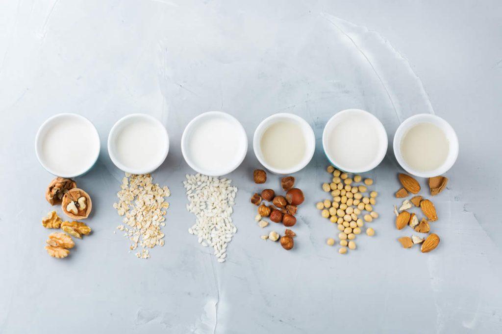 Nut and grain milk options