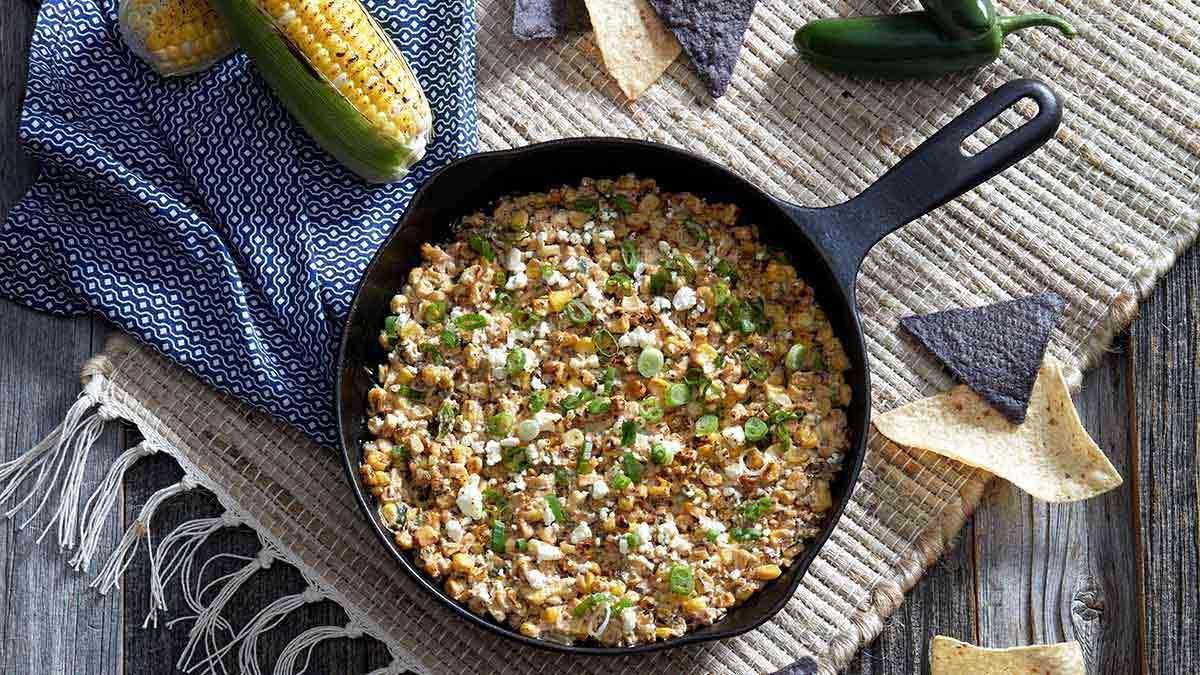Trempette de maïs grillé à la mexicaine