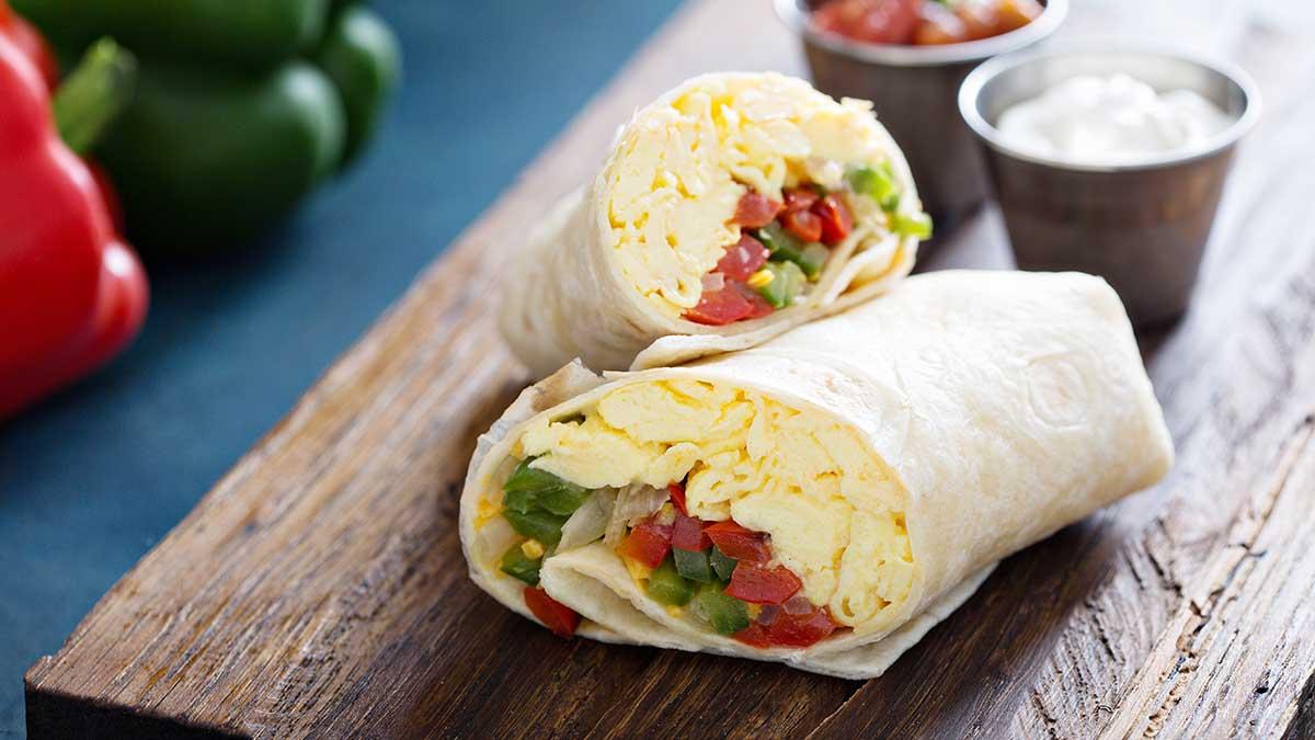 Burrito pour le déjeuner