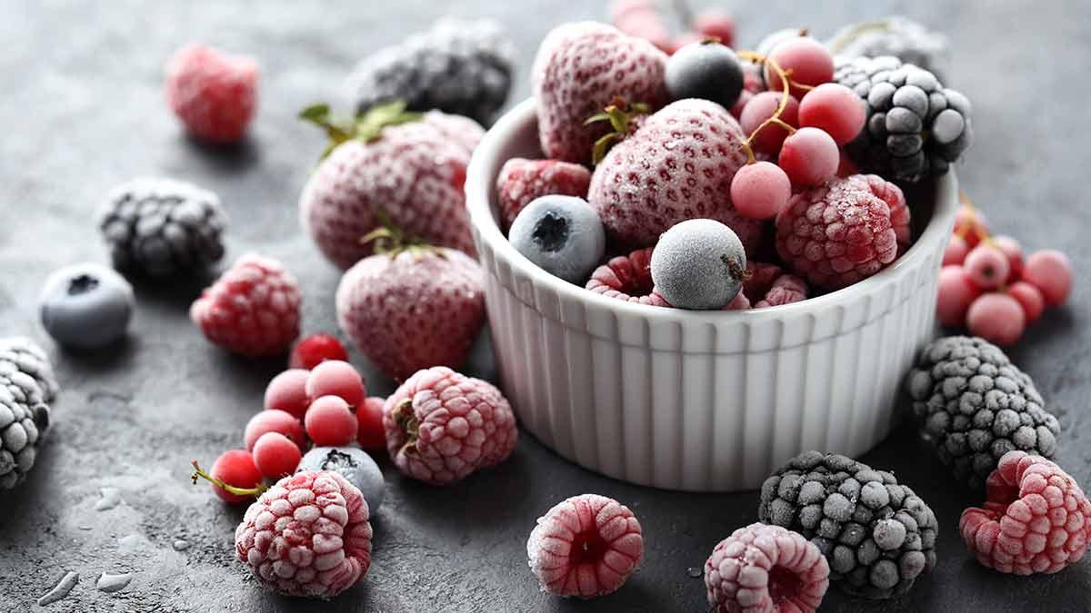 Les petits fruits surgelés